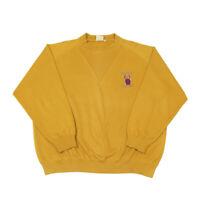80s Vintage Mustard Sweatshirt   2XL   Retro Crew Neck Sweater Jumper Top