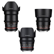 Rokinon Cine DS T1.5 Cine Lens Kit for Sony Alpha FE Mount - 35mm + 50mm + 85mm