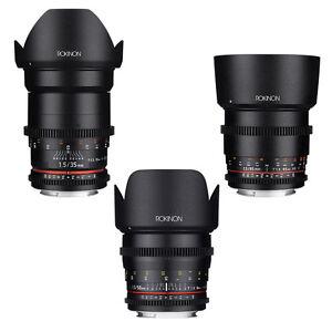 Rokinon Cine DS T1.5 Essential Cine Lens Kit for Nikon - 35mm + 50mm + 85mm