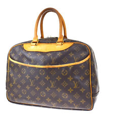 Authentic LOUIS VUITTON Deauville Hand Bag Monogram Leather Brown M47270 34MG512