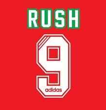 No 9 Rush Liverpool 1993-1995 Home Football Nameset for Shirt LFC