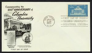 #1029 3c Columbia University, Fleetwood-CU Station Cancel FDC **ANY 4=FREE SHIP*