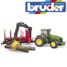 Bruder John Deere 7930 Tractor & árbol forestal Remolque Niños Juguete Modelo Escala 1:16