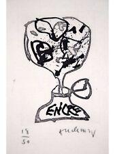 Pierre ALECHINSKY s/n Etchings ENCRE + BOOK Le Chemin 1992