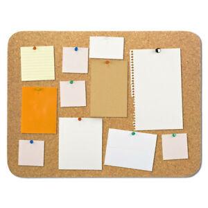 Cork Noticeboard Pin Memo Board Pad Frameless 600x450x15mm