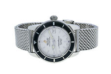 Breitling SuperOcean Heritage A17321 42mm Stainless Steel Mesh Band Watch Papers