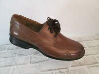 Clarks Northam Edge Loafers Shoes Mens Sz 12 Brown Leather Dress Lace Up