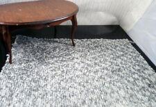"""Designer Fabric 1:12 CHENILLE DOLLHOUSE RUG 9"""" x 6"""" KRAVET"""