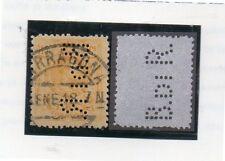 España Monarquia Valor con Perforación Comercial B.DI R. año 1918 (DG-344)