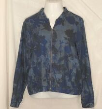 JUICY COUTURE Jacket Women's Large Zipper Front Blue NEW $64