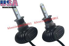 2xH3 LED Headlight Conversion Kit 72W 8000LM Fog Driving Light Bulbs 6500K Lamps