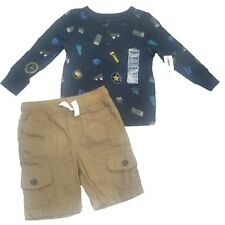 NEW - OLD NAVY & More Baby Boys 12-18 months Cargo Shorts & Thermal Tee LOT