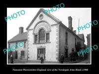 OLD LARGE HISTORIC PHOTO NUNEATON WARWICKSHIRE ENGLAND NEWDEGATE ARMS HOTEL 1900