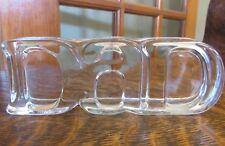 """FOSTORIA 1982 Glass for Avon """"DAD"""" Paperweight"""