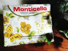 Vintage Cannon Monticello No Iron Twin Fitted Sheet New in Package