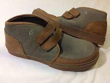 Olukai KAHA Gray/Tan MEN's Leather Boots Size 12