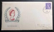 1953 Hamilton Canada first day cover Coronation H M Queen Elizabeth Ii Locally