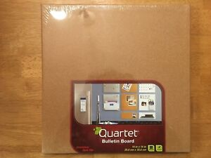 "New Sealed Quartet 48112 14"" X 14"" Cork Modular Natural Frameless Bulletin Board"