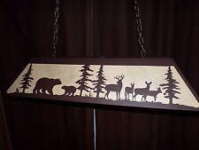 X LRG Laser cut Steel Bear Whitetail Turkey Table Light Lamp hunt cabin Copper