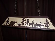 X LRG Laser cut Steel Bear Whitetail Turkey Table Light Lamp hunt cabin BLACK