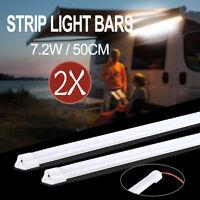 2X 50CM 7020 LED STRIP LIGHT BAR 12V AWNING CAMPING CAR UTE 4WD CAMPER BOAT