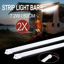 2X 50CM 7020 LED STRIP LIGHT BAR 12V AWNING CAMPING CAR UTE 4WD CAMPER BOAT