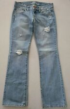 AMERICAN EAGLE OUTFITTERS Women's Blue Jeans Favorite Boyfriend Distressed~Sz. 4