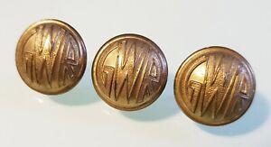 GWR Cuff-links made from Original Railway Uniform buttons