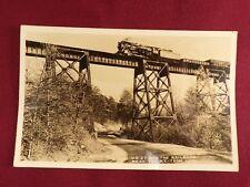 Train Engine Trestle RPPC Postcard Railroad Locomotive Kentucky Tennessee
