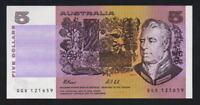 Australia R-213F. (1991) 5 Dollars - Fraser/Cole..  1st Prefix QGX.. UNC