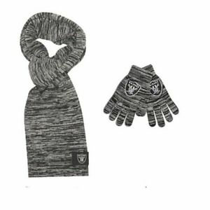 Las Vegas Raiders NFL Licensed Color Blend Scarf And Glove Set for Women