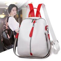 Womens Fashion PU Leather Backpack Casual Waterproof Travel Zipper Shoulder Bag