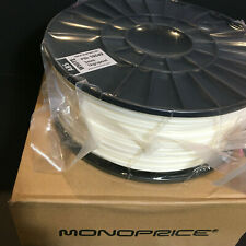 Monoprice Premium 3D Printer Filament ABS 3MM 1kg Spool WHITE NEW PID 10549