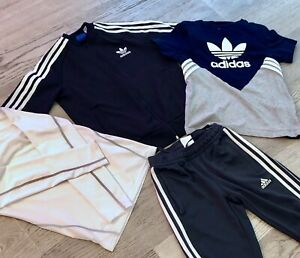 Boys S Adidas Zip Jacket S Trefoil Tee Shirt S Pant+Lanbaosi Compression Top 374