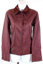 Prada - Burgundy Purple Long Sleeve Silk Button Down Shirt Blouse - Size 42 / 8