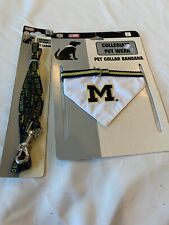 New listing Michigan Dog Scarf Collar And Matching Leash New