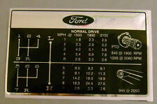 Ford 6600's Tractor Gear Change Chart Decal *