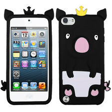 APPLE iPod Touch 5thgeneration Pastel Skin Cover – Crown PIGGIE Design (Black)