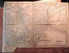 CAMPANIA_NAPOLI_ANTICA CARTOGRAFIA_MAPPA TOPOGRAFICA IN DUE FOGLI_1887_STRADARIO
