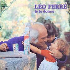 LEO FERRE Je Te Donne FR Press Cbs 81750 1976 LP