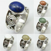 Variety Of Gemstones !! 925 Sterling Silver LAPIS LAZULI & Other Stone ART Ring