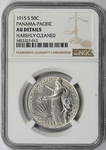 1915-S Panama-Pacific Silver Commemorative Half Dollar 50C AU Details NGC
