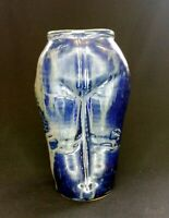 VTG 70s (?) Pottery Distressed Flared Jeans Vase 18cm Tall | FREE Delivery UK*