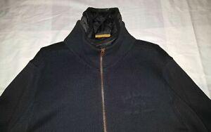 G-STAR L Doppel Jacke Blau Sediment Vest Strick WINTER PULLOVER
