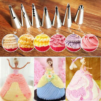7Pcs Cake Icing Piping Nozzles Baking Tools Russian Tulip Flower Decorating Tips