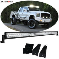 "52"" Straight LED Light Bar 99-15 Ford F250 F350 Super Duty Roof VS 50/54"" Curved"