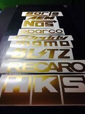 9 Racing Stickers Pack GOLD Color! JDM Car Sponsor