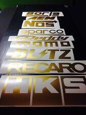 9 Racing Stickers Pack GOLD Color! JDM Car Sponsor