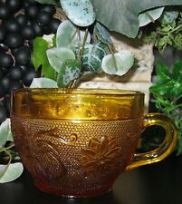 Tiara Cup Vintage Indiana Glass Company Amber Sandwich Glass
