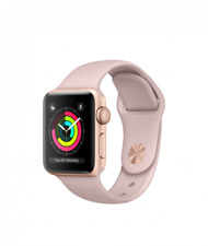 Nuovo Brand New Apple Watch Series 3 38mm Gold With Pink Sand Sport Band MQKW2